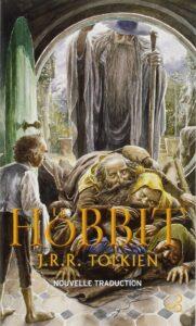 Couverture de la nouvelle version de Le Hobbit de J.R.R. Tolkien, traduit par Daniel Lauzon